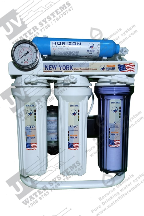NEW YORK 6-Reverse Osmosis Water Filter Under Sink Residential for kitchen US Filter Purifier