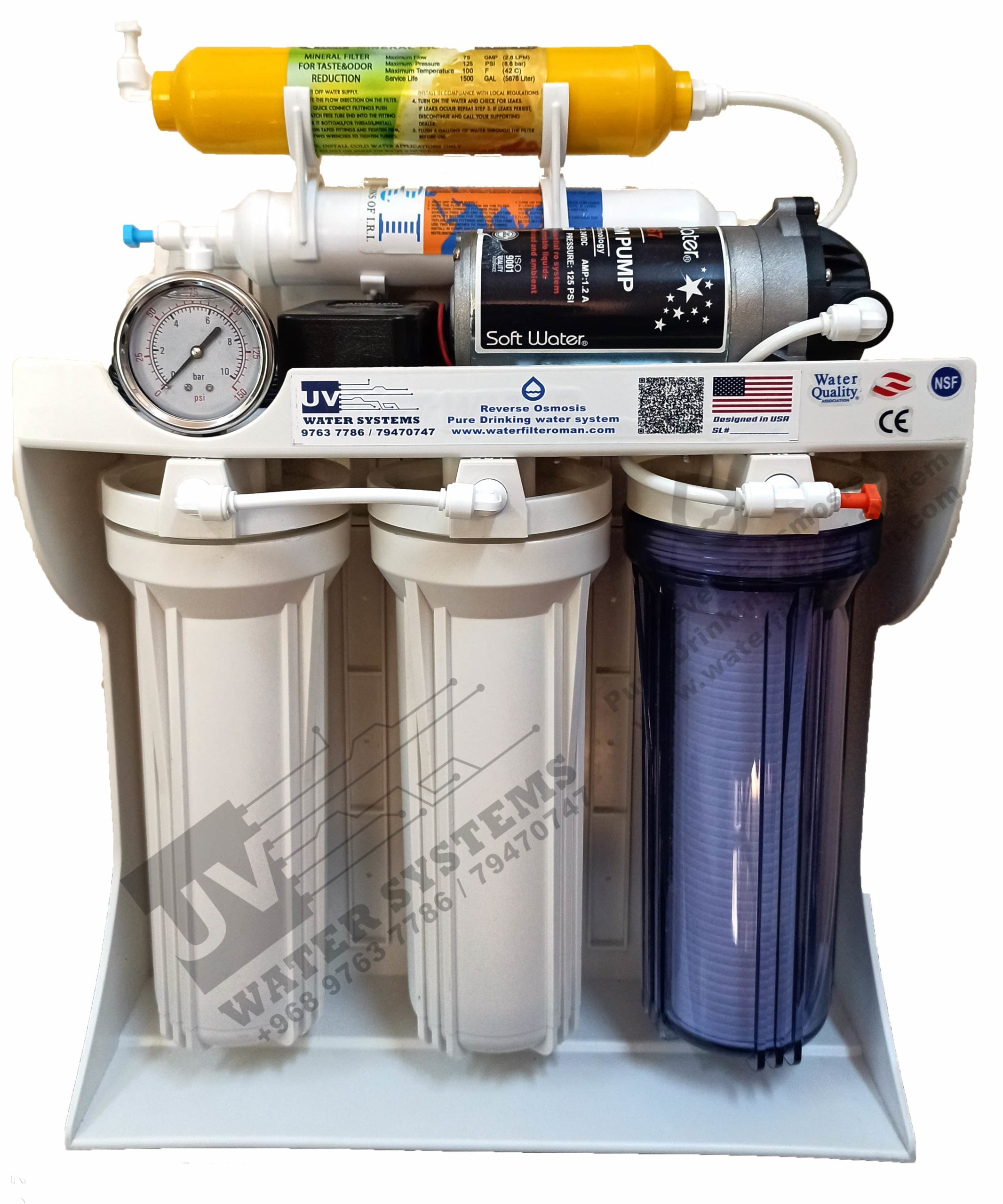 Brand New 6 Stage Reverse Osmosis Water Filter Supplier Oman